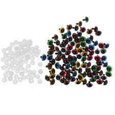 Yeux de Sécurité Plastique Plastique Pour DIY Fabrication Poupée 8-20mm 100Pcs