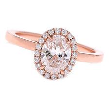 GIA Certified 1.45 Carat Oval Shape Diamond Engagement Ring 18k Rose Gold