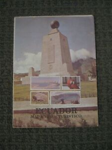 Ecuador Map from 1986-Tourist Map includes Galapagos Islands (In Spanish)-VGUC
