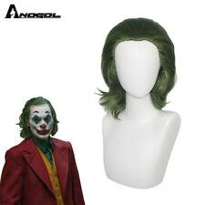 Anogol Movie Joker Arthur Fleck Men Cosplay Wig Green Curly Joker Halloween Wig