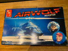 Vintage Partially Built Amt Ertl Airwolf Helicopter Model Kit 6680 1/48 Scale