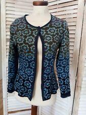 OLEANA zauberhafte Woll Strickjacke / Cadigan, wie neu,Blau Grün, S