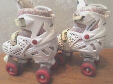 Girl's Trac Star Adjustable Roller Skates, White/Pink, Medium 2-4, Free Shipping