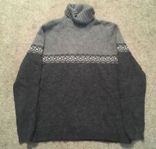 Womens Eddie Bauer 100% Lambswool Gray Sweater, Size M Tall