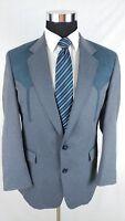 Circle S Men Gray Western Cowboy Sport Coat 2Button Blue Blazer Jacket Sz 38R