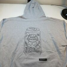 NEW PABST BLUE RIBBON BEER CAN CHAD COOMBS ART HOODIE HOODED SWEATSHIRT Sz 3XL