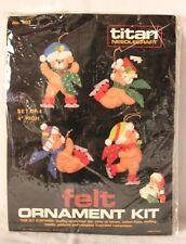 VTG Titan Needlecraft Felt Christmas Ornament Kit Teddy Bears 403 New/Opened