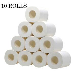 White Tissue Rolls 2ply Toilet Paper Luxury Soft Tissues for Toilet Kitchen Work