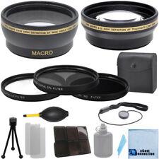 52mm 0.43x Wide Angle, 2.2xTelephoto Lens,Filter Kit for Nikon D5100 D5200 D5500