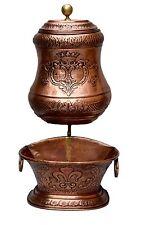 French Antique 18th.C Copper Wall Hanging Fountain Lavabo - Noble Fleur de Lys