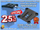 Yuneec CGO3+/CGOET/C23/E50/E90/E10/E30z Camera Top Mount/Upper Dampening Plate