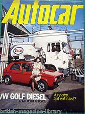 Autocar 14/4/1979 United States Grand Prix Test: Fiat X1/9 1500 VW Golf Diesel