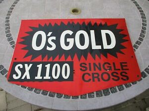 """Vintage O's Gold Seed Corn 24"""" Metal 2-Sided Sign"""