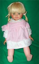 "BLONDE PONY TAIL TOPPER DOLL 1971 TALKING BABY DOLL 18"" SMARTY PANTS OLD"