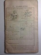 LIBRETTO DEL SOLDATO SECONDA GUERRA MONDIALE - SOLDATO DI LEVA CLASSE 1911