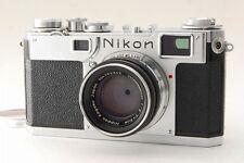 【Exc++++】 Nikon S2 35mm Rangefinder Film Camera w/ 50mm f/2 Lens from Japan