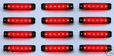 12 PIEZAS ROJO 12v 6 LED Lateral Trasero Marcador intermitentes bombilla Camión