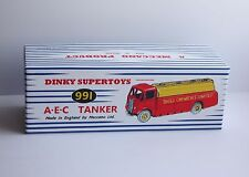 """Dinky Reproduction Box 991/591 AEC TANKER """"SHELL chemicals limited"""" repro"""
