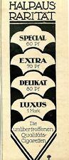 Halpaus--Rarität-Cigaretten--Werbung von 1921