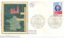 1976 - FDC SOIE 1°JOUR**/ASSOCIATION DES FRANCAIS LIBRES - TIMBRE Yv.1885