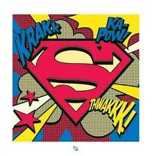 SUPERMAN ART POSTER ~ THWAKKK LOGO 16x16 DC Comic Book