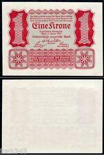 AUSTRIA 1 Krone corona 1922 Pick 73  SC / UNC