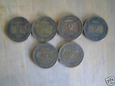 lot de 6 pieces bon pour 2 francs bronze alu