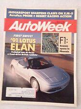 Autoweek Magazine '91 Lotus Elan Jaguarsport XJR-S March 19, 1990 020617RH
