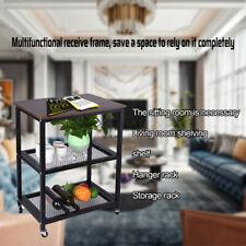 New listing High-class Restaurant Serving Cart 3-Tier Kitchen Utility Cart Wheels w/Storage
