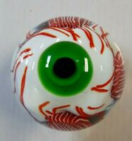 Zombie Eye Hand Made Glass Paperweight 90mm x 90mm NEW IN BOX