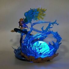 One Piece Marco Blue Wind Fire Rock Base LED-Light Anime Action Figure Ace Luffy