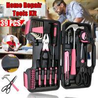 39Pcs Tool Kit DIY Household Hand Tools Portable Toolbox Hammer Pliers Scissors