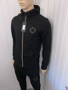 Hugo Boss Full Tracksuit Mens Black/gold Cube Logo Jacket& Pants BNWT LARGE £119