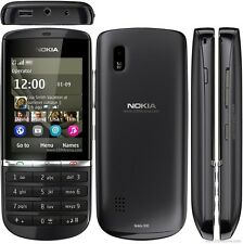 New Black Nokia Asha 300 Unlocked 3G Touch & Type Cell Phone 5MP Camera