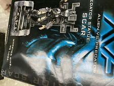 2004 Palisades Toys AVP Alien vs Predator Predator Statue Scar 36/120 IN THE BOX