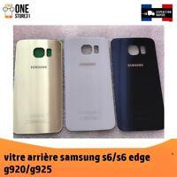 vitre arrière couvercle cache batterie Samsung Galaxy s6 G920F G925f +ADHÉSIF
