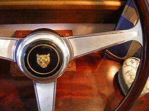 "Jaguar XJ6  XJ40 1986 89 Wood Steering Wheel NARDI engraved spokes 15"" New"