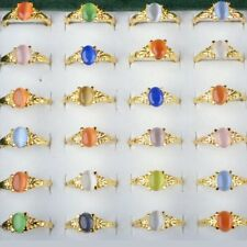 Wholesale 30pcs Lots Gold Plated Fashion Women Rings Charm Jewelry Multicolor
