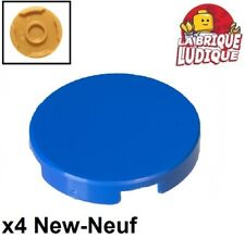Lego - 4x Tile round Plate round Smooth 2x2 Blue/Blue 14769 New