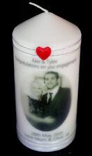 Personalised Photo Engagement Wedding Candle Gift Keepsake