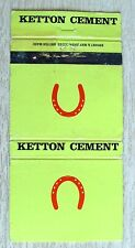 Matchbook Bryant & May Ketton Cement Stamford Lincs BK1399