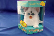 Furby Babies Electronic White Pink Ears Blue Eyes New 1999