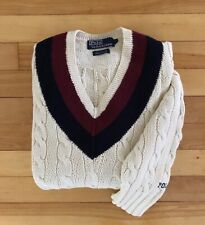 Vintage Polo Ralph Lauren Hand Knit Cricket Cable Sweater