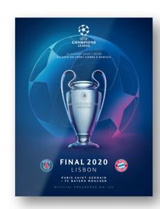 2020 UEFA Champions League Final Official Program Paris SG vs Bayern Munich MINT
