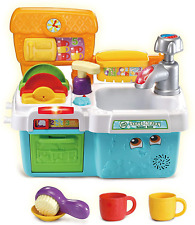 LeapFrog Scrub & Play Toy Sink Toy | Play Kitchen Accessories for Pretend Play |