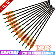 12X 22 inch Carbon Crossbow Bolts Crossbow Hunting Arrows Screw Tips Outdoor Usa