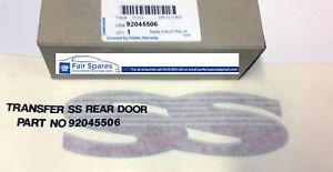 1 x NOS VR VS SS Holden Commodore Sedan Rear Door Decal Sticker Transfer Genuine