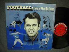 GEORGE ALLEN WITH DICK ENBERG FOOTBALL HOW TO PLAY THE GAME 33 RPM LP EXCELLENT