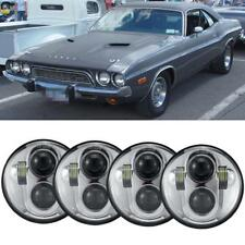 """4x 5.75"""" 5-3/4"""" High Low Beam LED Projector H4 Headlights Assembly Conversion"""