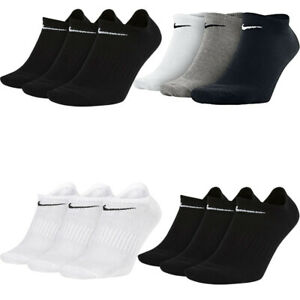 Nike Mens Womens 3 Pairs Socks Lightweight Cushioned Ankle Low Trainer Socks